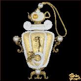 Дизайнерская игрушка ручной работы Самовар золотой