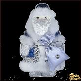 Дизайнерская игрушка ручной работы Дед мороз синий