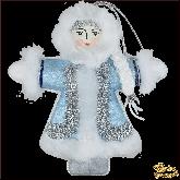 Дизайнерская игрушка ручной работы Снегурочка синяя