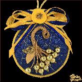 Дизайнерская игрушка ручной работы Ягоды синие