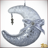 Дизайнерская игрушка ручной работы Месяц серебряный