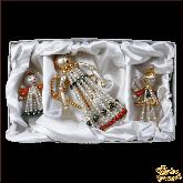 Набор ёлочных украшений ручной работы пр-во Чехия Ангелы