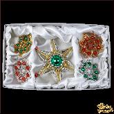 Набор ёлочных украшений ручной работы пр-во Чехия Звёзды