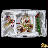 Набор ёлочных украшений ручной работы пр-во Чехия Насекомые 2