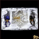 Набор ёлочных украшений ручной работы пр-во Чехия Пауки