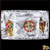Набор ёлочных украшений ручной работы пр-во Чехия Парк развлечений