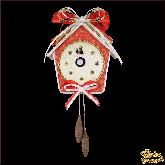 Дизайнерская игрушка ручной работы Часы красные