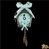Дизайнерская игрушка ручной работы Часы золотые
