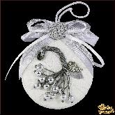 Дизайнерская игрушка ручной работы Ягоды серебряные
