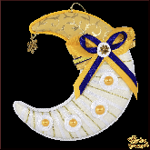 Дизайнерская игрушка ручной работы Месяц золотой