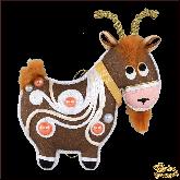 Дизайнерская игрушка ручной работы  Коза коричневая