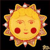 Дизайнерская игрушка ручной работы Солнышко