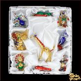Набор ёлочных украшений ручной работы пр-во Чехия Животные