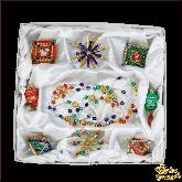 Набор ёлочных украшений ручной работы пр-во Чехия Фантазии