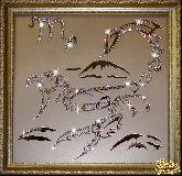 Картина Скорпион 35х35 см