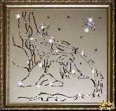Картина Водолей 35х35 см