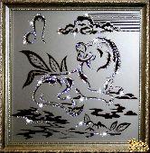 Картина Лев 35х35 см