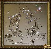 Картина Рыбы 35х35 см