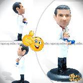 Кукла шарж врачу «Семь бед - один доктор»