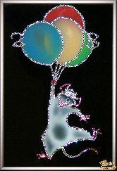 Картина Крыса на шариках