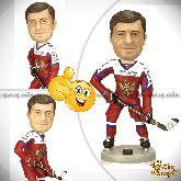 Кукла шарж хоккеисту «Бравый хоккеист»
