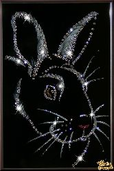 Картина Новогодний кролик №2