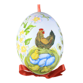 Пасхальное яйцо куриное на лентеС Рождением