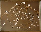 Картина Тигр в горах