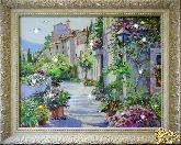 Картина Цветущий город