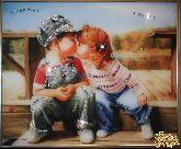 Картина Детский поцелуй