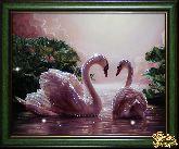 Картина Влюбленные лебеди