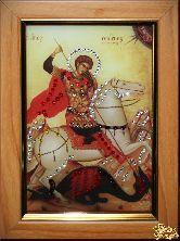 Икона Георгий Победоносец малая