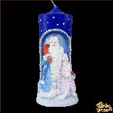 Свеча большая Дед Мороз и Снегурочка