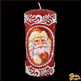 Свеча пенек С новым годом - Дед Мороз