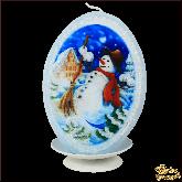 Свеча овал Снеговик