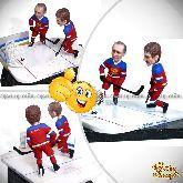 """Кукла шарж хоккеисту """"В лучшей команде"""""""