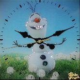 Часы Летний снеговик