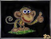 Картина Веселая обезьяна