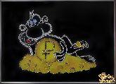 Картина Обезьяна с рублем