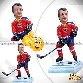 "Кукла шарж хоккеисту ""Улётный пас"" 20см."