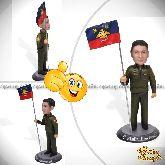"""Кукла шарж военному """"Страна может спать спокойно"""" 20см."""