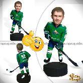 """Кукла шарж хоккеисту """"Центр- форвард"""" 20см."""