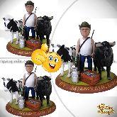 "Кукла шарж фермеру ""Такая корова нужна самому"""