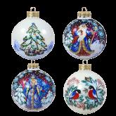 Набор ёлочных шаров ручной работы Зимняя сказка