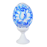 Пасхальное яйцо куриное на подставке Гжель