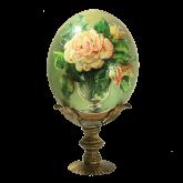 Пасхальное яйцо страусиное Розы