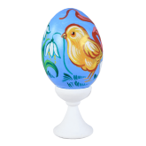 Пасхальное яйцо куриное на подставке Цыпленок