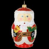 Ёлочная игрушка из Польши Матрешка Дед Мороз