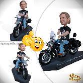 """Кукла шарж мотоциклисту """"Крутому байкеру в День Рождения"""""""