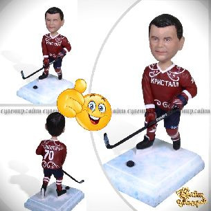 """Кукла шарж хоккеисту """"Финт"""""""